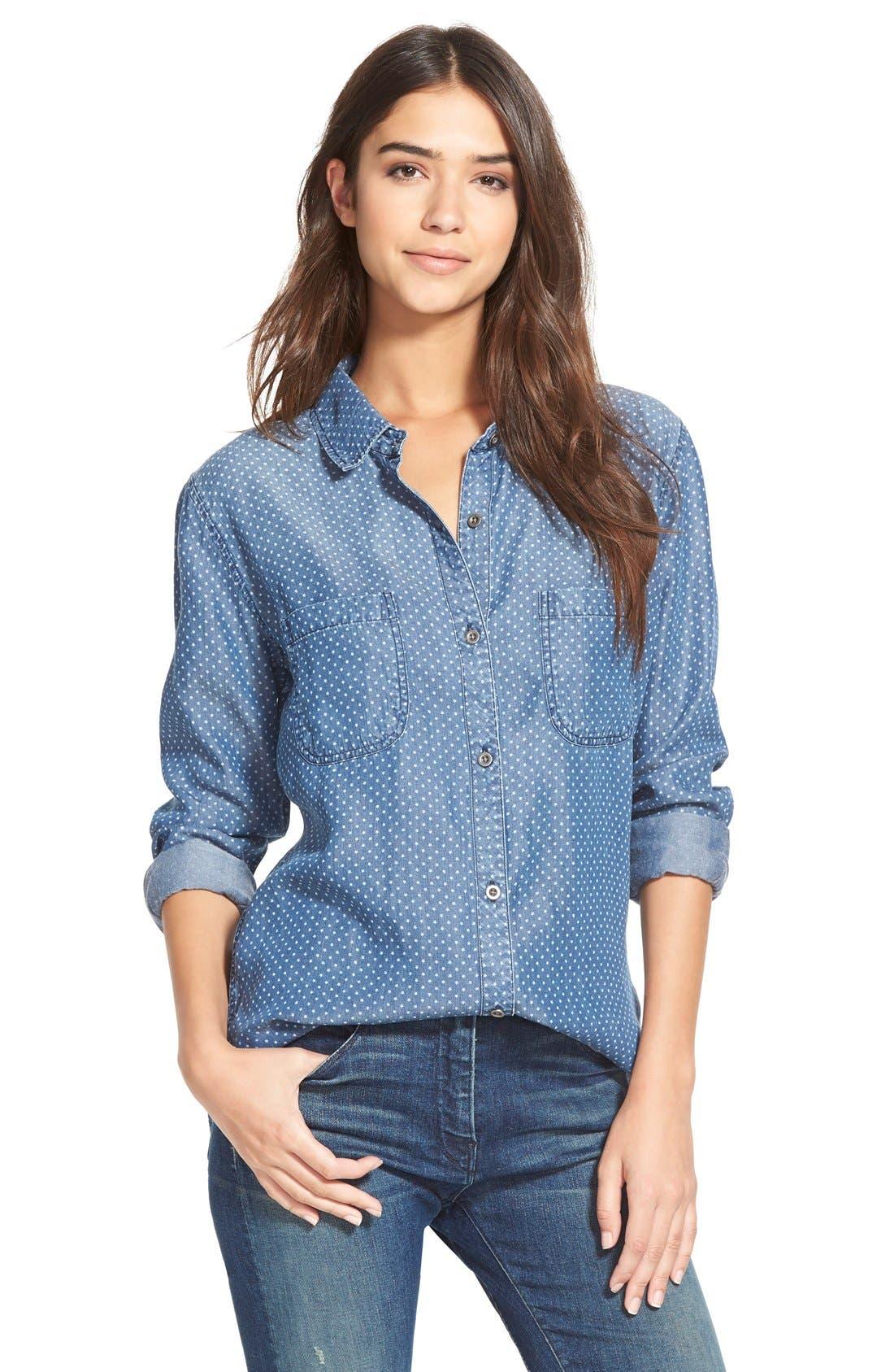 Main Image - Rails 'Carter' Star DotChambray Shirt