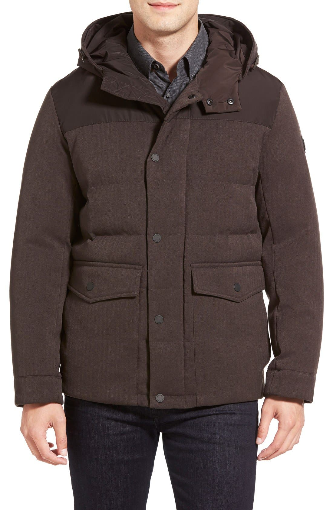 Michael kors water resistant quilted parka