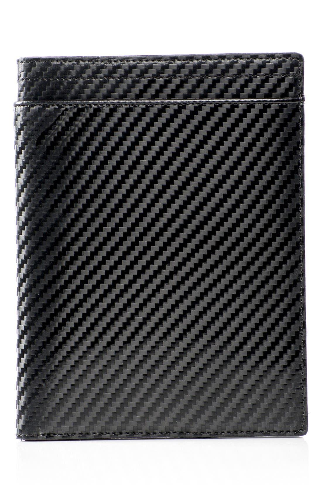 WürkinStiffs Leather RFIDPassport Case,                         Main,                         color, Black