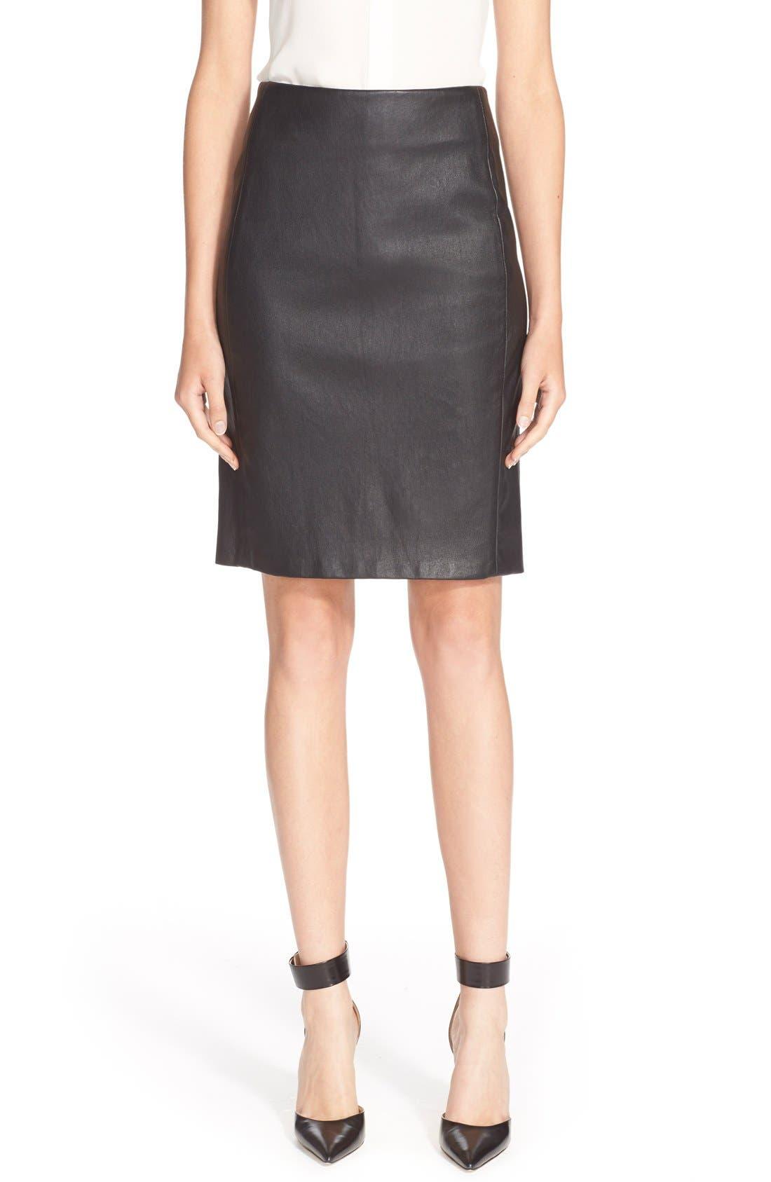 Alternate Image 1 Selected - Diane vonFurstenberg'Cloe' Leather Pencil Skirt