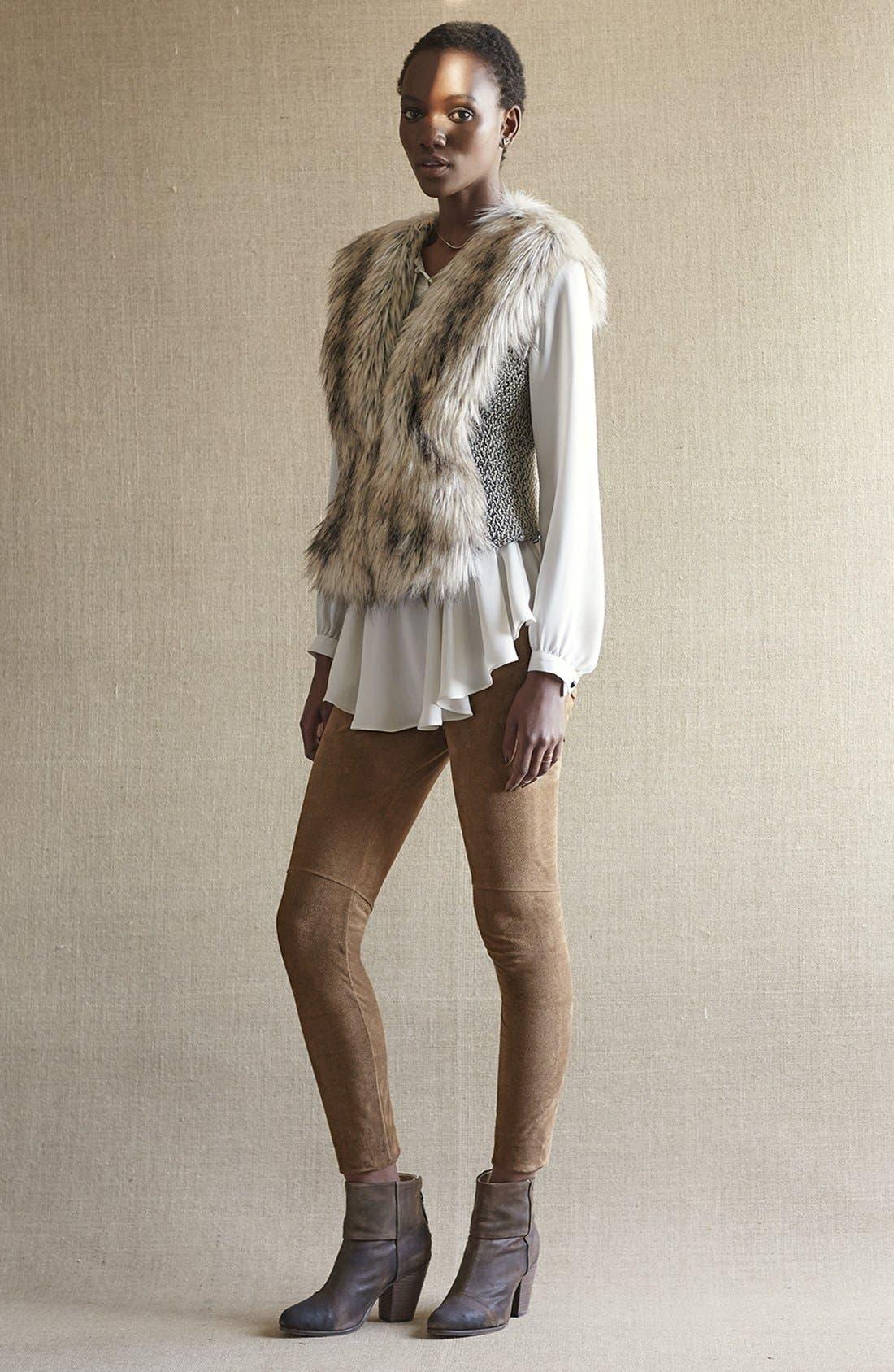 Alternate Image 6  - Dena Tweed & Faux Fur Vest