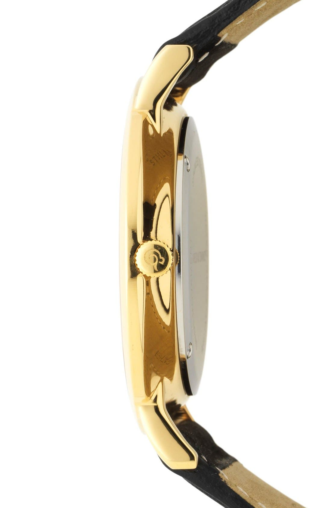Alternate Image 3  - Larsson & Jennings 'Lugano' Short Strap Leather Watch, 40mm