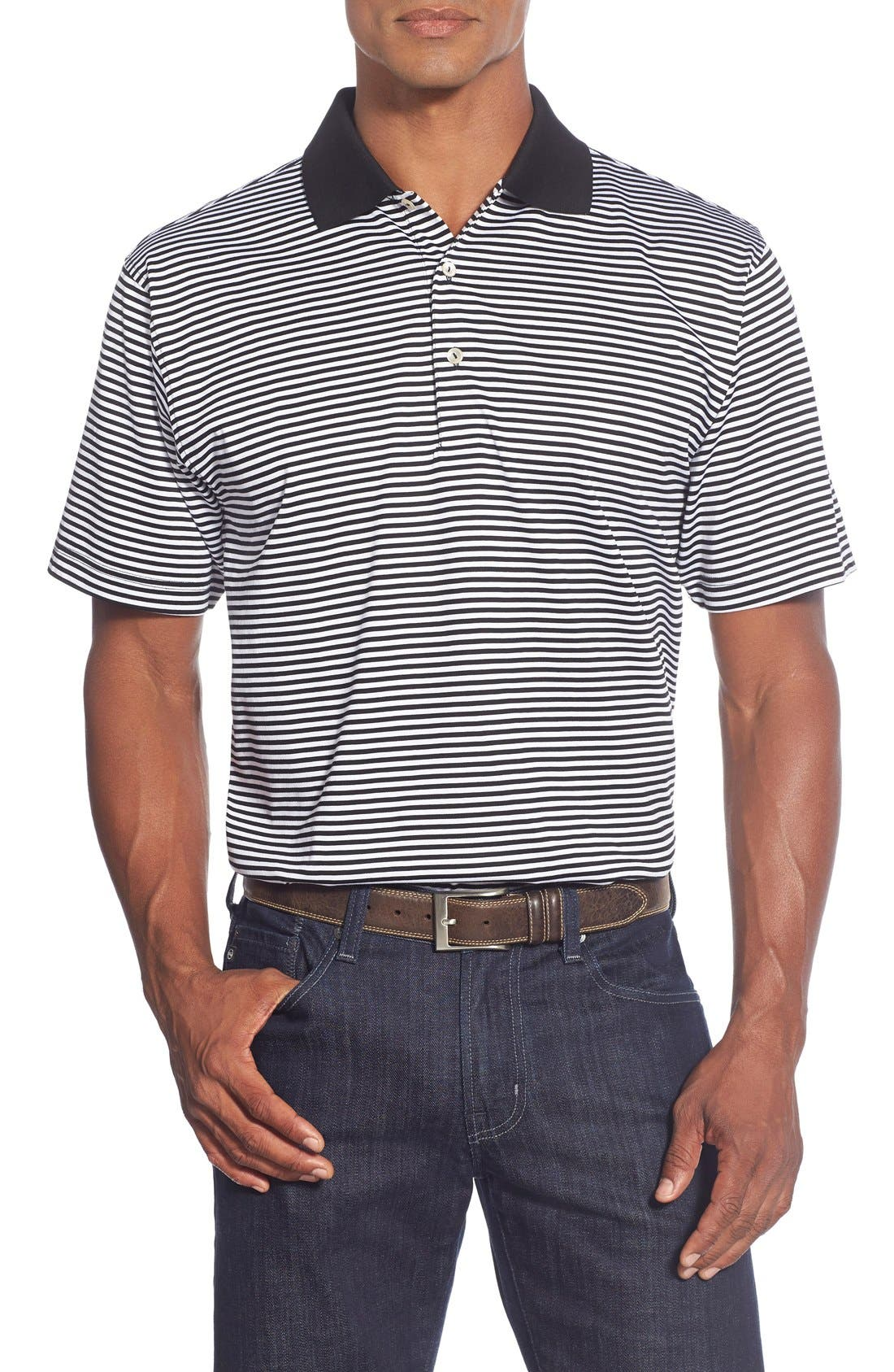 Peter Millar 'Classic Stripe' Egyptian Cotton Lisle Polo