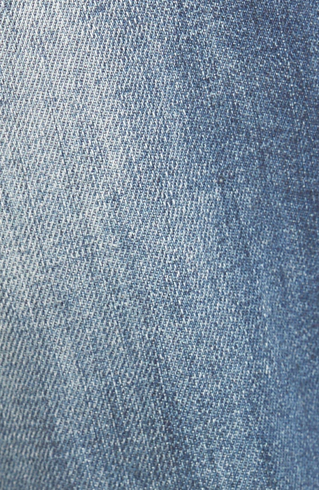 Alternate Image 5  - OnTwelfth 'Stevie'Distressed BoyfriendJeans (Tahoe Dark Wash)