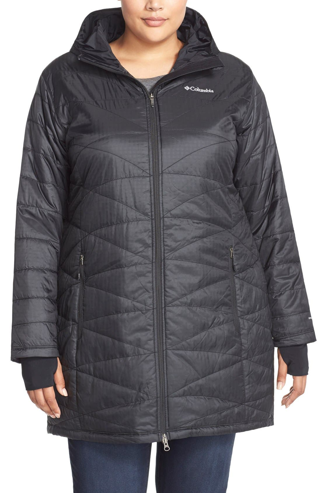 Alternate Image 1 Selected - Columbia Mighty Lite Hooded Jacket (Plus Size)