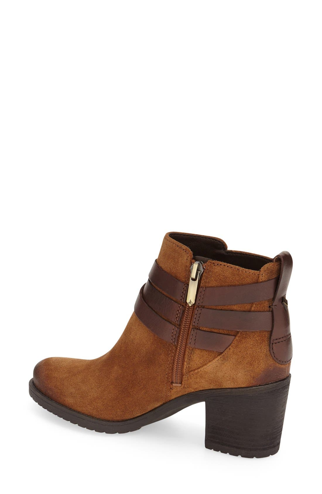 'Hannah' Belted Chelsea Bootie,                             Alternate thumbnail 2, color,                             Mocha Latte/ Sienna