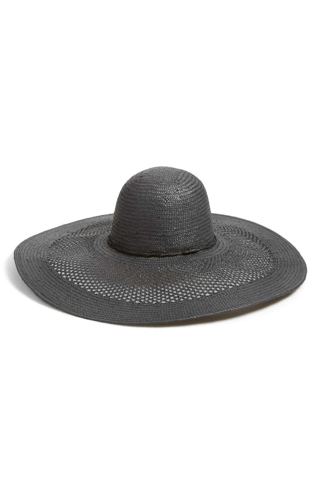 Alternate Image 1 Selected - Phase 3 Open Weave Floppy Straw Hat
