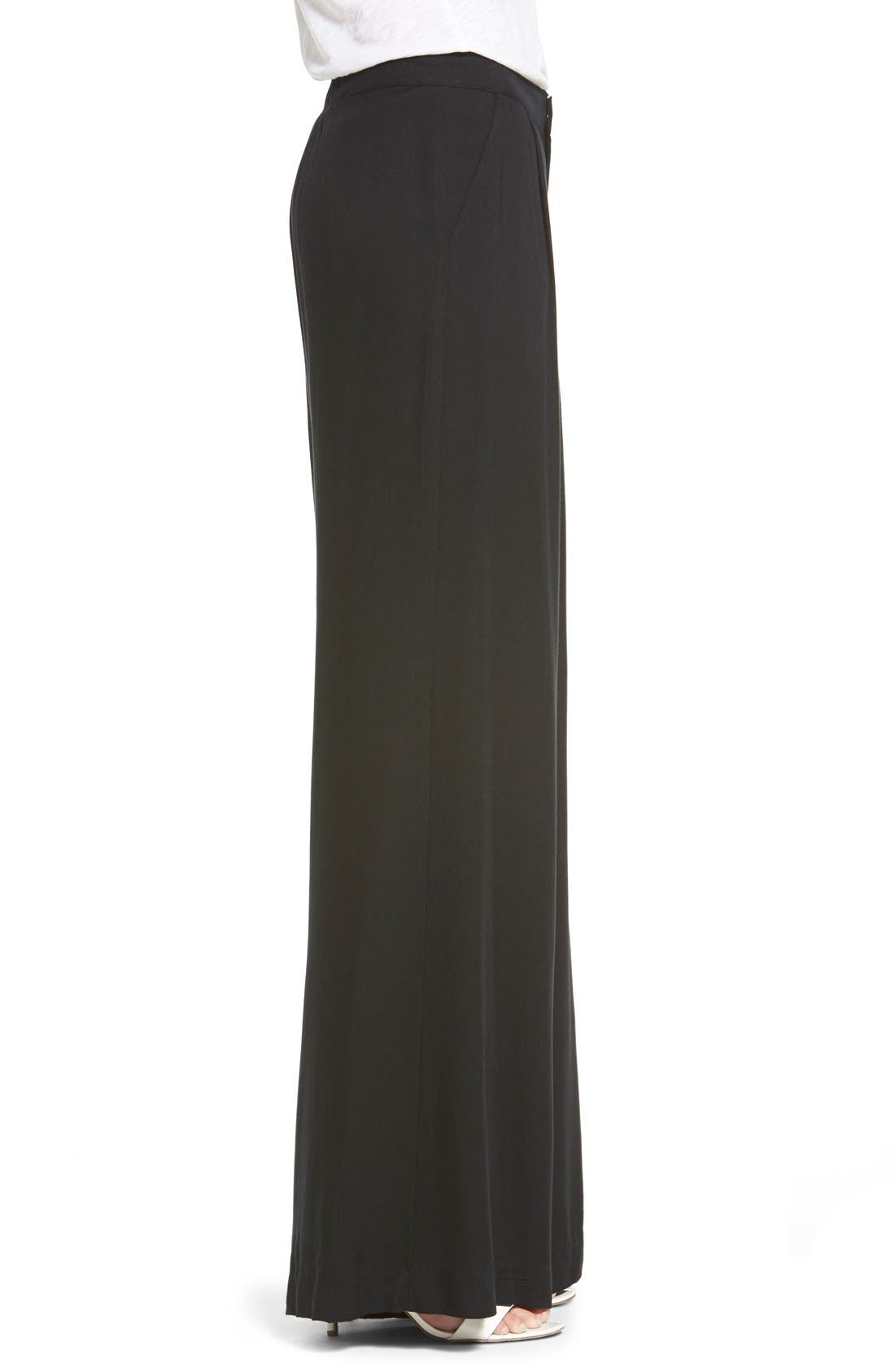 Alternate Image 3  - Socialite Wide Leg Trousers