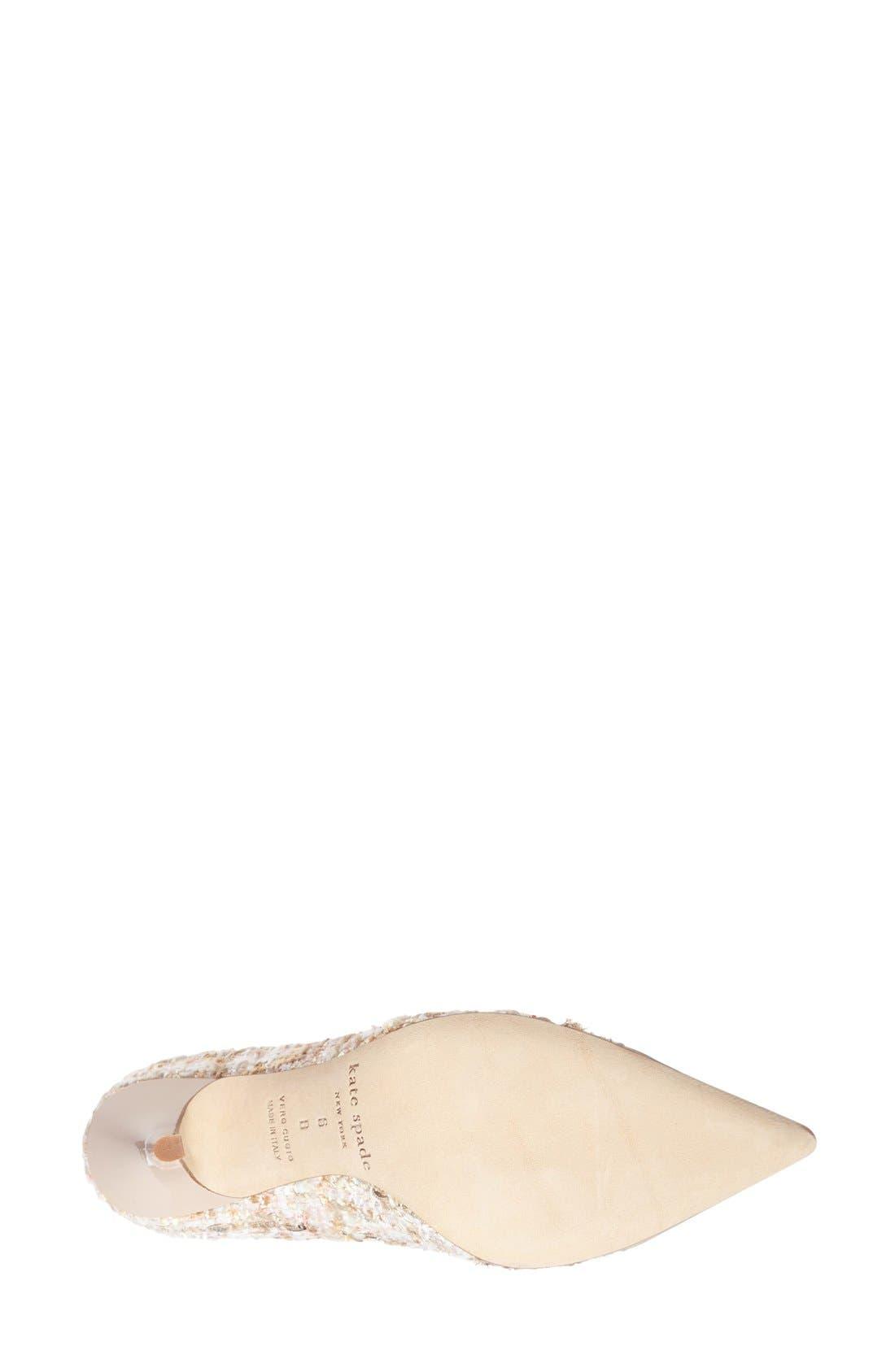 Alternate Image 4  - kate spade new york 'lacy' pointy toe pump (Women)