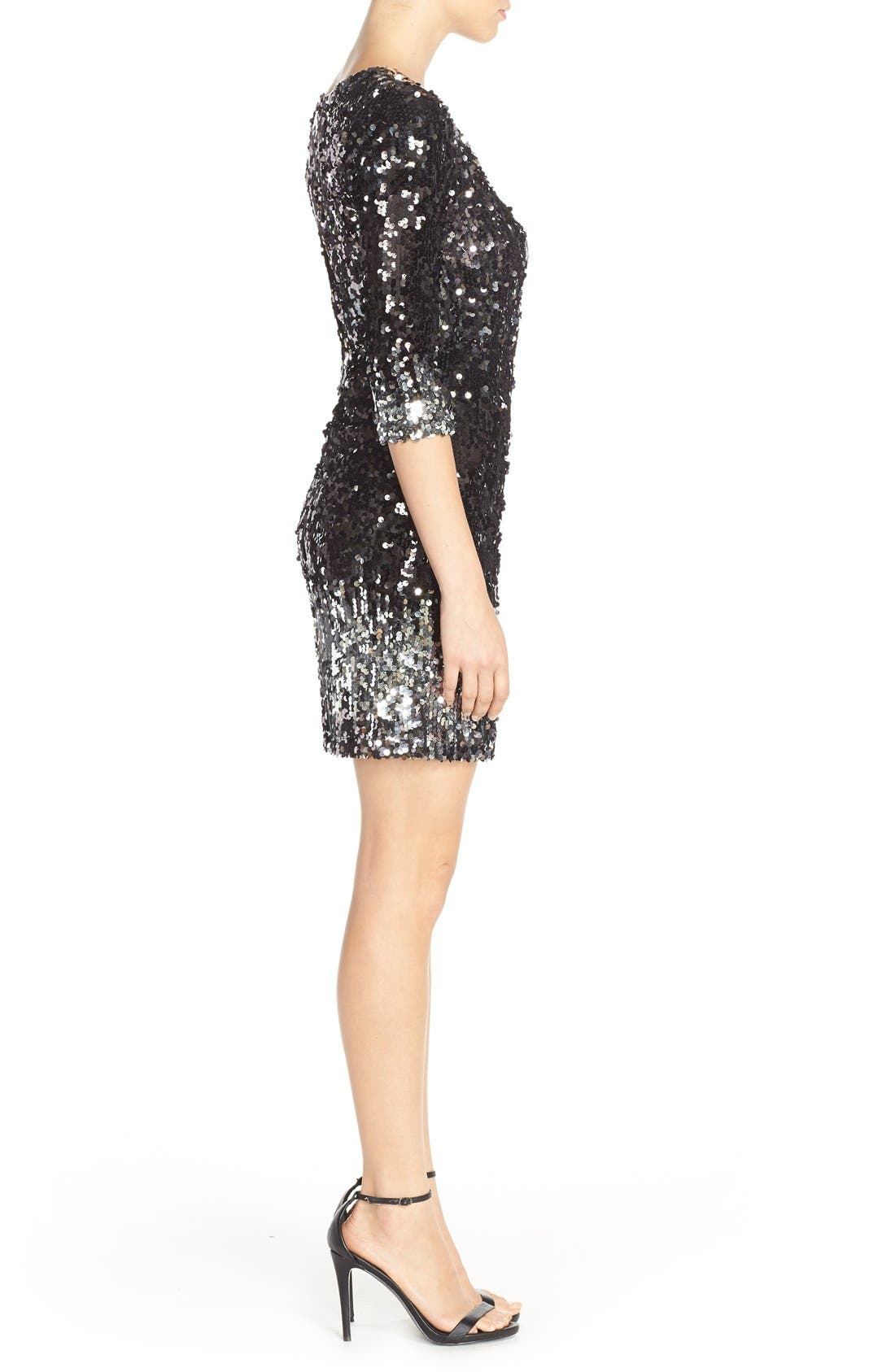 Alternate Image 3  - BB Dakota 'Elise' Ombré Sequin Sheath Dress