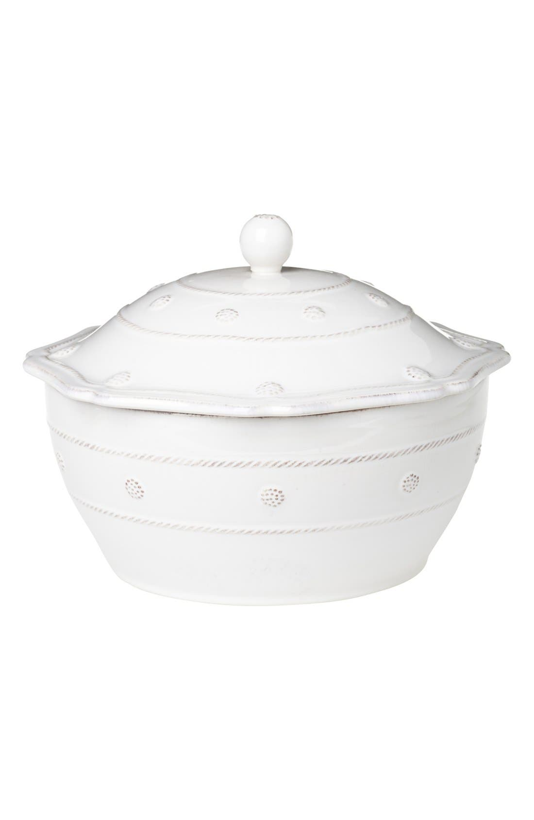 'Berry and Thread' Casserole Dish with Lid,                         Main,                         color, Whitewash