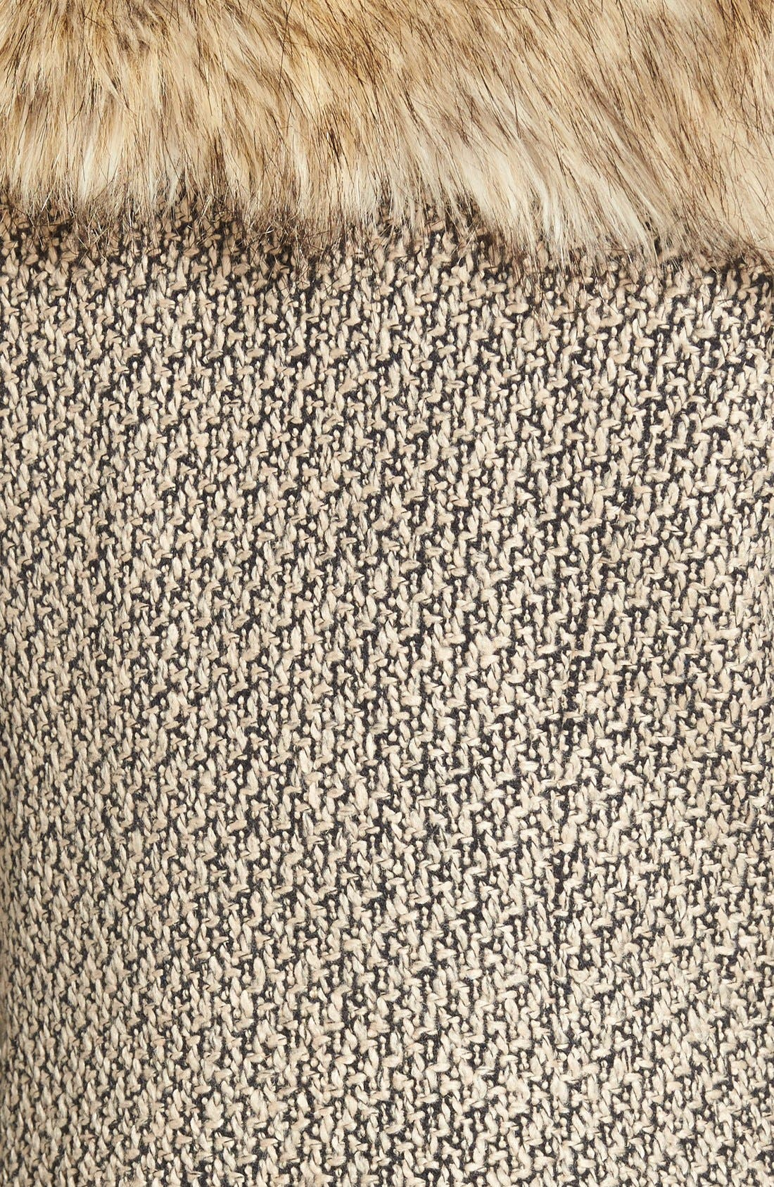Alternate Image 3  - Dena Tweed & Faux Fur Vest