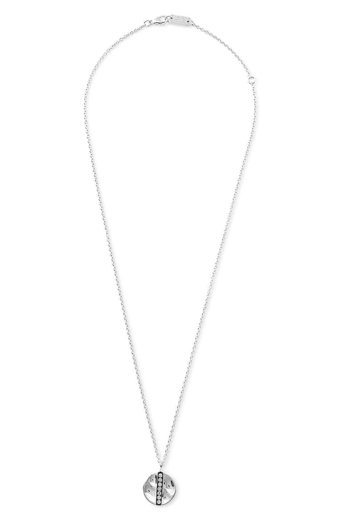 'Glamazon - Stardust' Diamond Disc Pendant Necklace,                             Alternate thumbnail 2, color,                             Silver