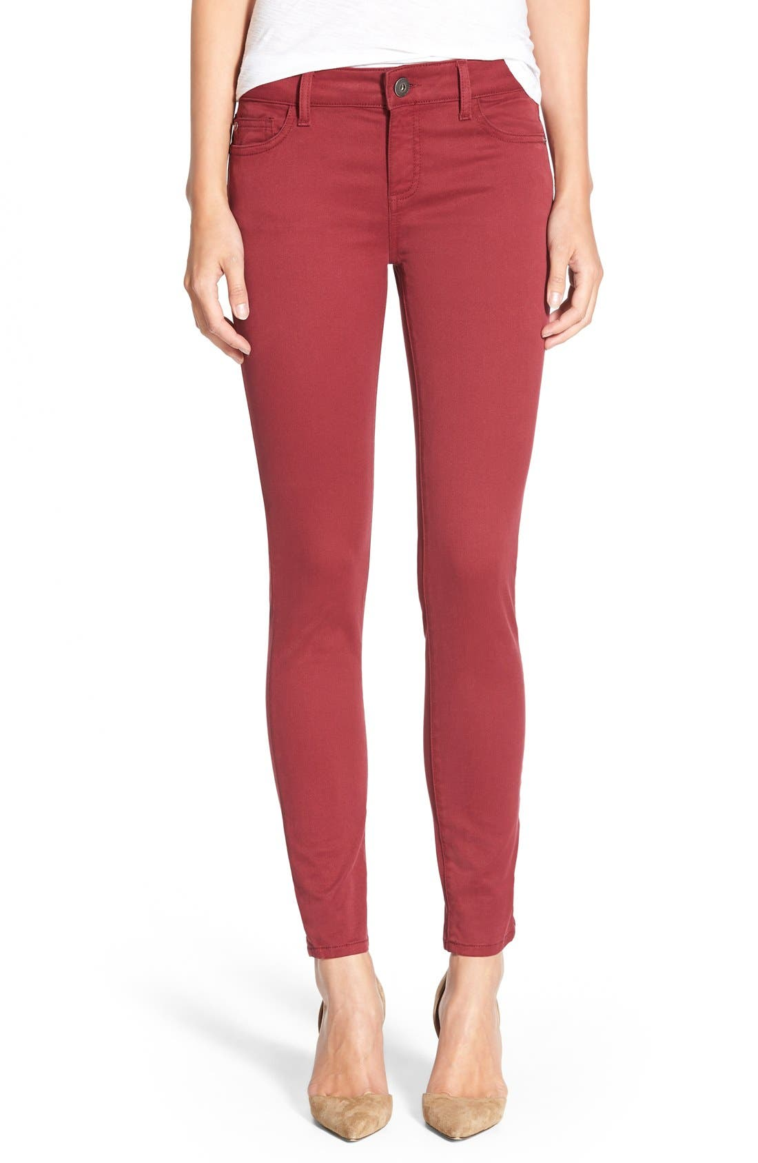 Main Image - DL1961 'Margaux' Instasculpt Ankle Jeans (Ruby)
