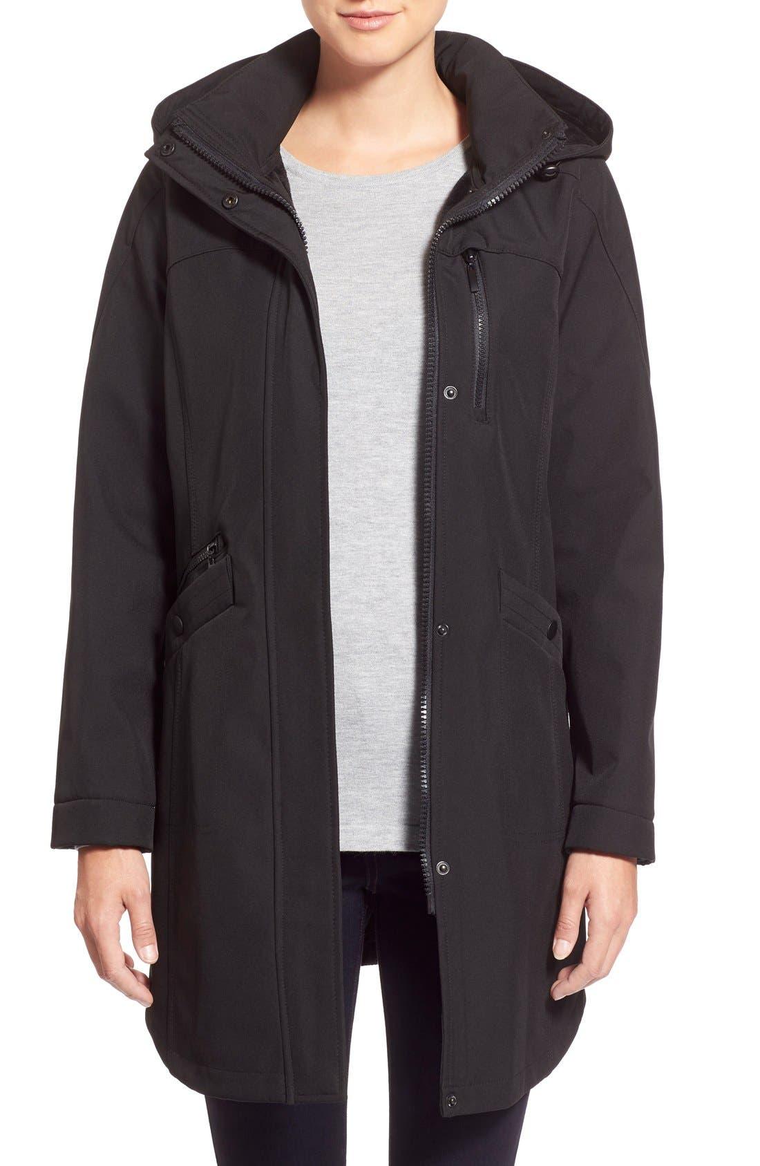 Main Image - Kristen Blake Crossdye Hooded Soft Shell Jacket(Regular &Petite)