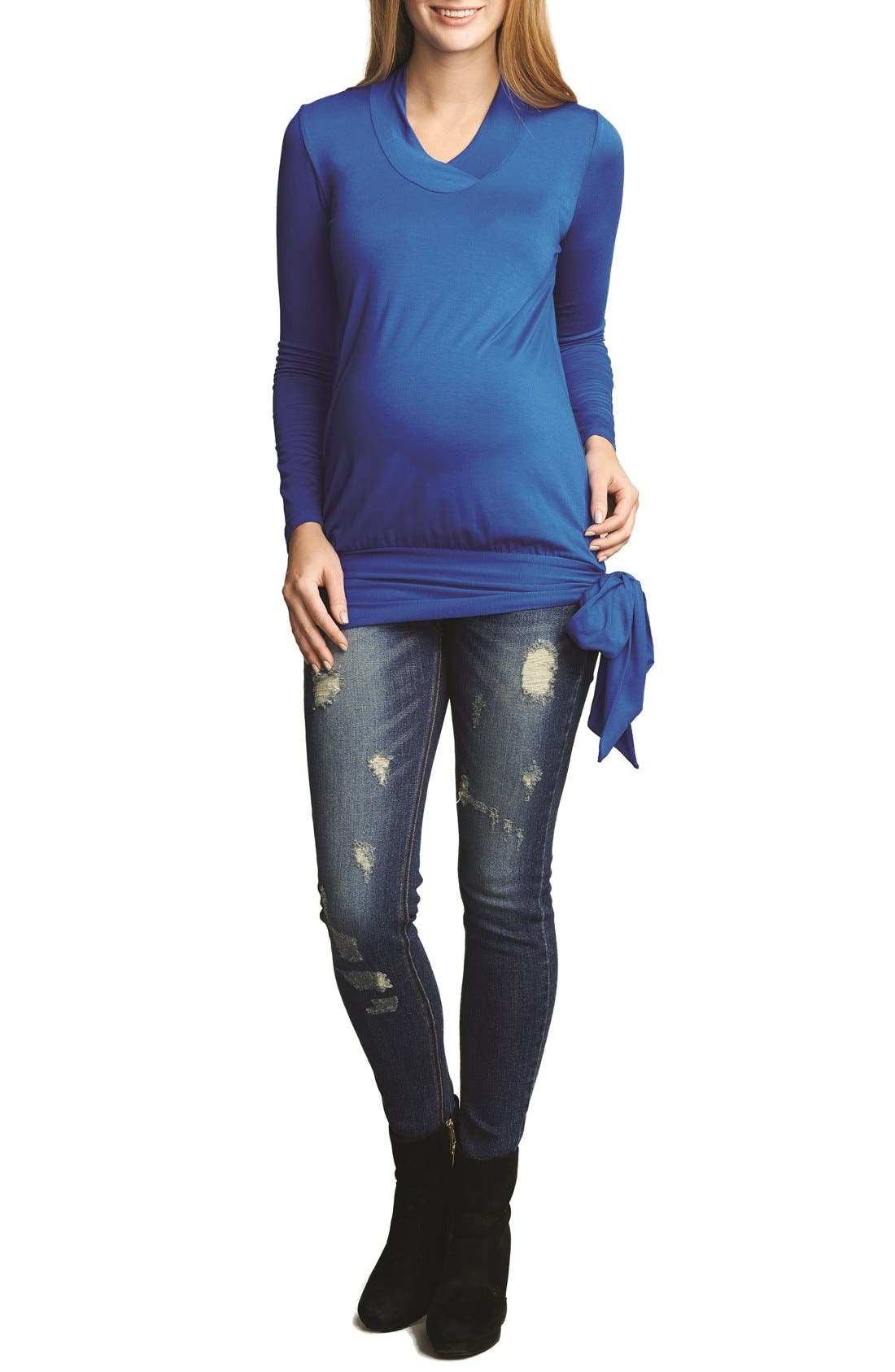 The Urban Ma Side Tie Maternity Top