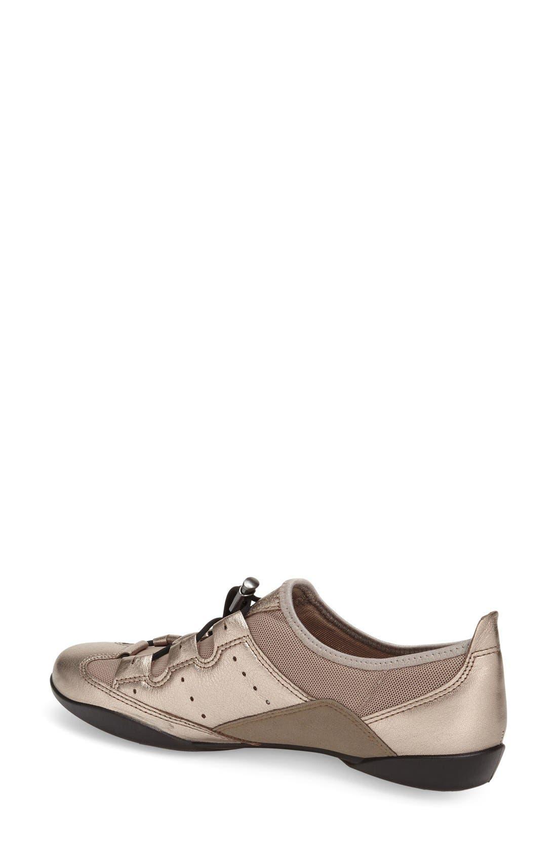 'Bluma' Sneaker,                             Alternate thumbnail 2, color,                             Grey Leather Fabric