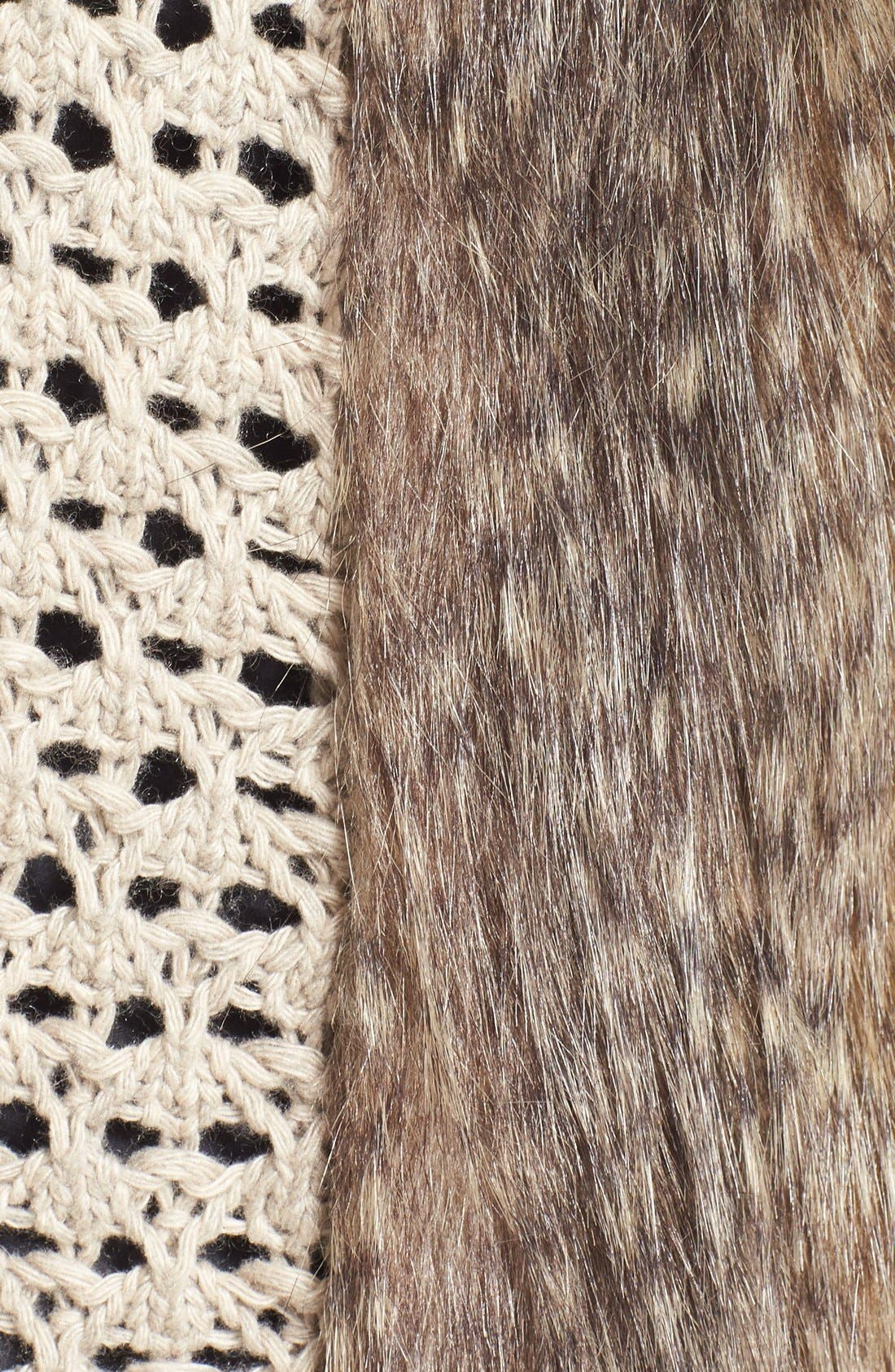 Alternate Image 5  - Ella Moss 'Lyla' Faux Fur Knit Back Vest