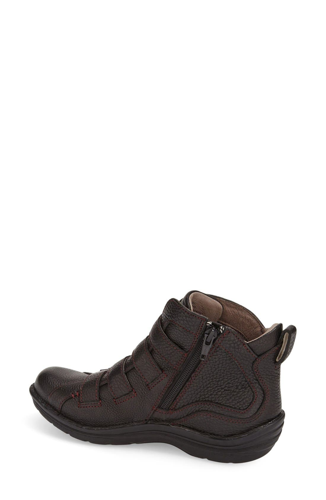 'Orion' Bootie,                             Alternate thumbnail 2, color,                             Black Leather