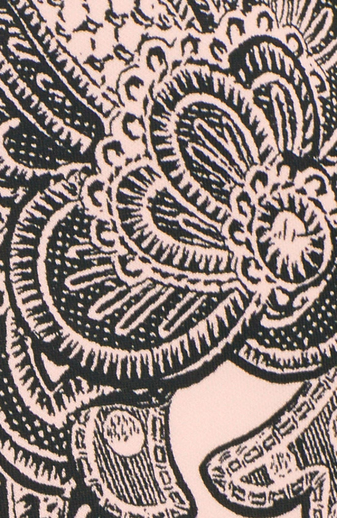 Alternate Image 4  - MaggyLondon Print Scuba Fit & Flare Dress (Regular & Petite)