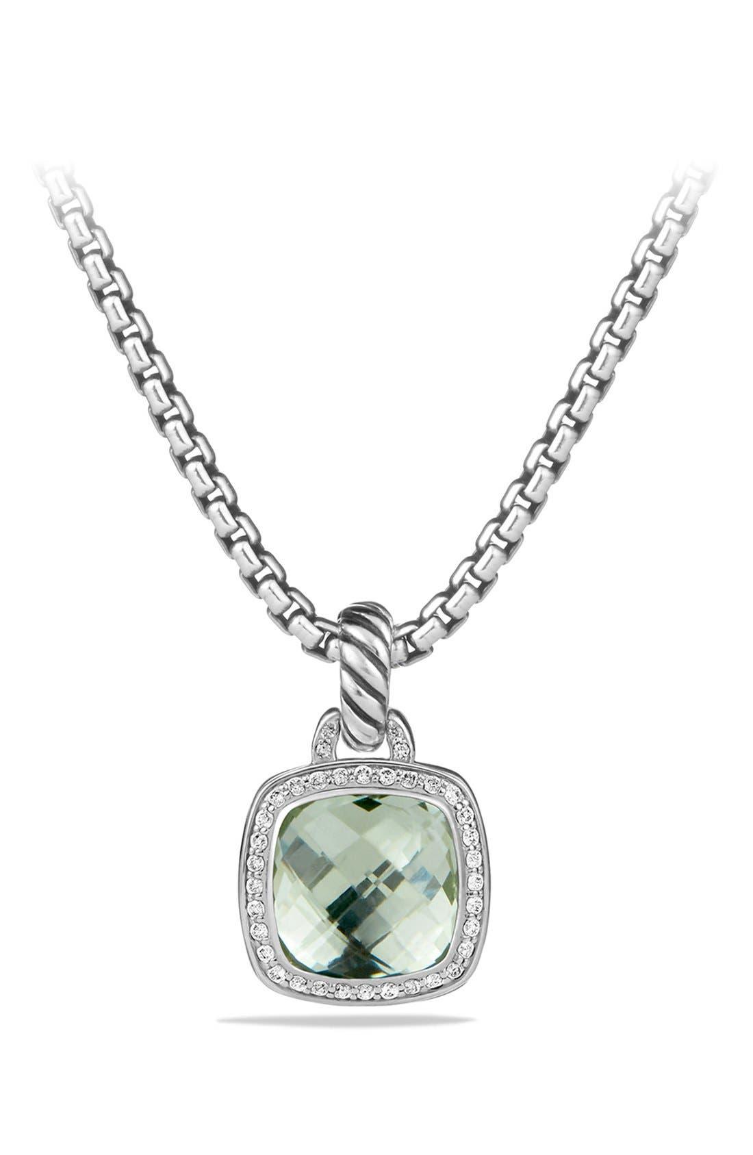 'Albion' Pendant and Diamonds,                         Main,                         color, Prasiolite