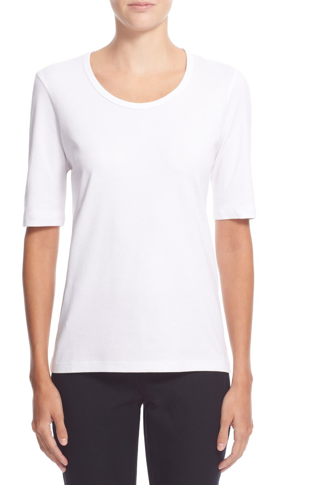 Pima Cotton Top,                         Main,                         color, White