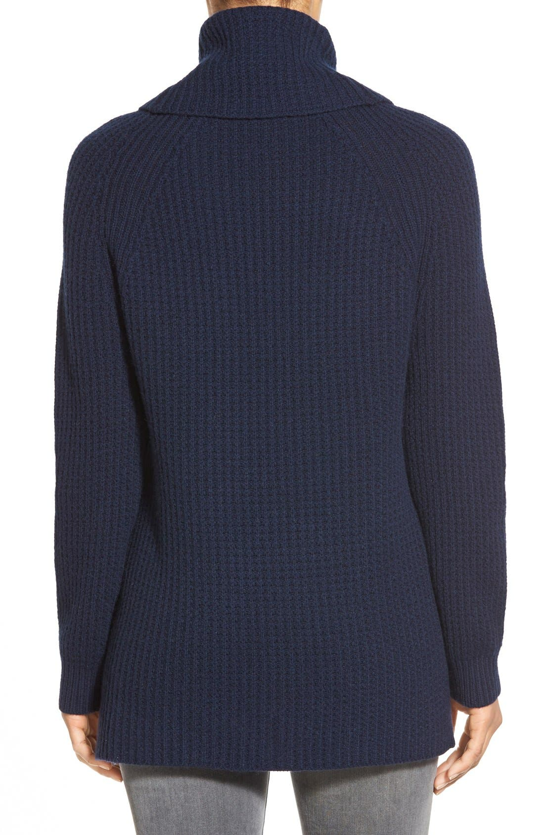 Alternate Image 2  - Nordstrom Collection Wool & Cashmere Turtleneck Sweater