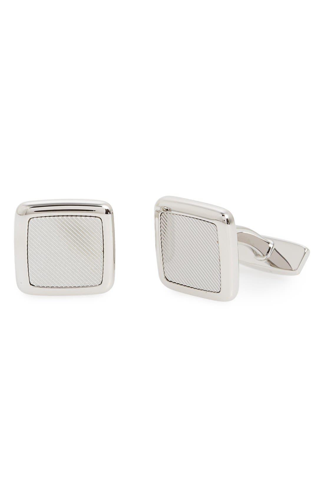 'Ennio' Cuff Links,                         Main,                         color, Silver