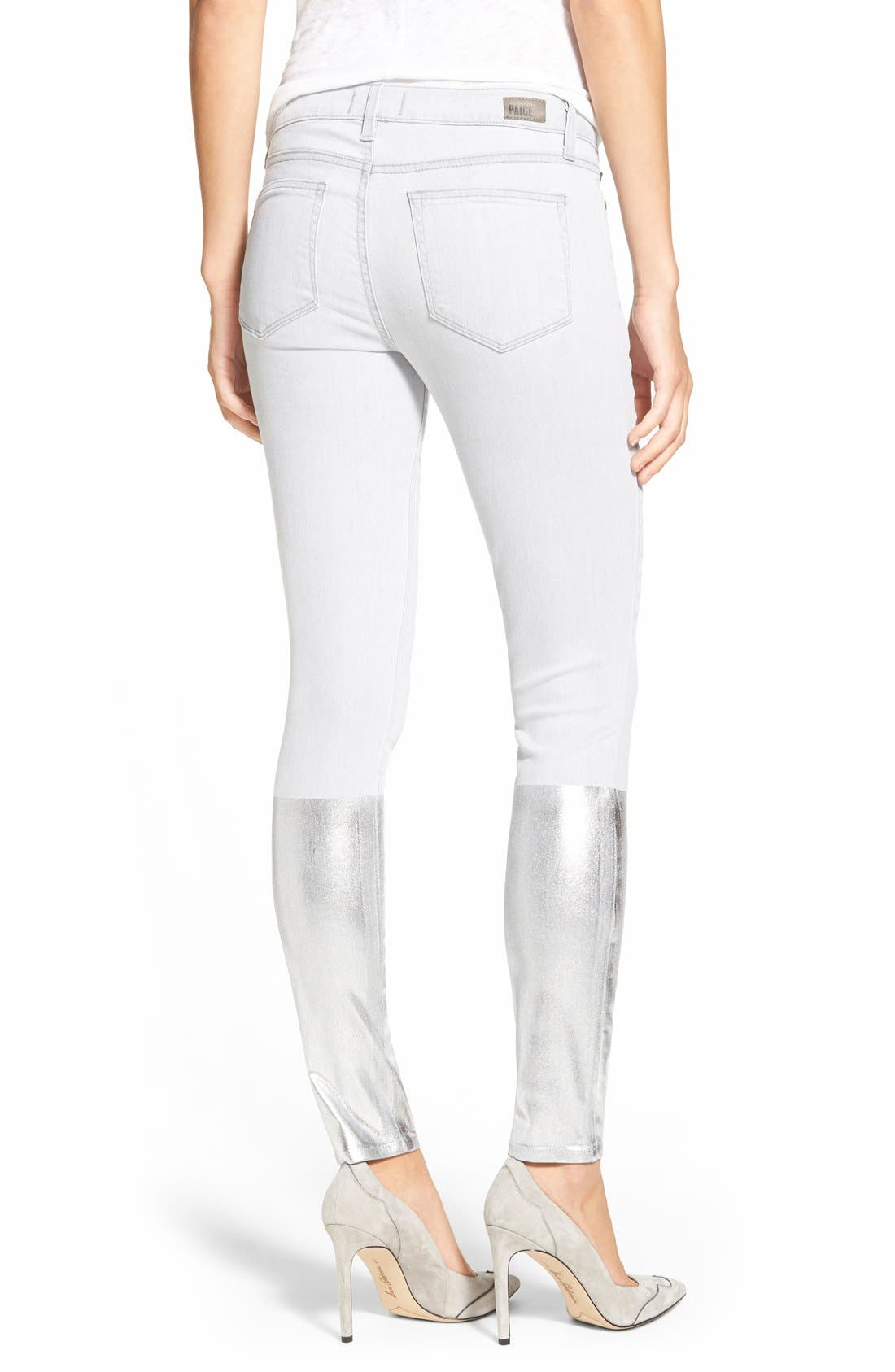Alternate Image 3  - PaigeDenim 'Verdugo' Ankle Ultra Skinny Jeans (Light Grey/Silver Solstice)
