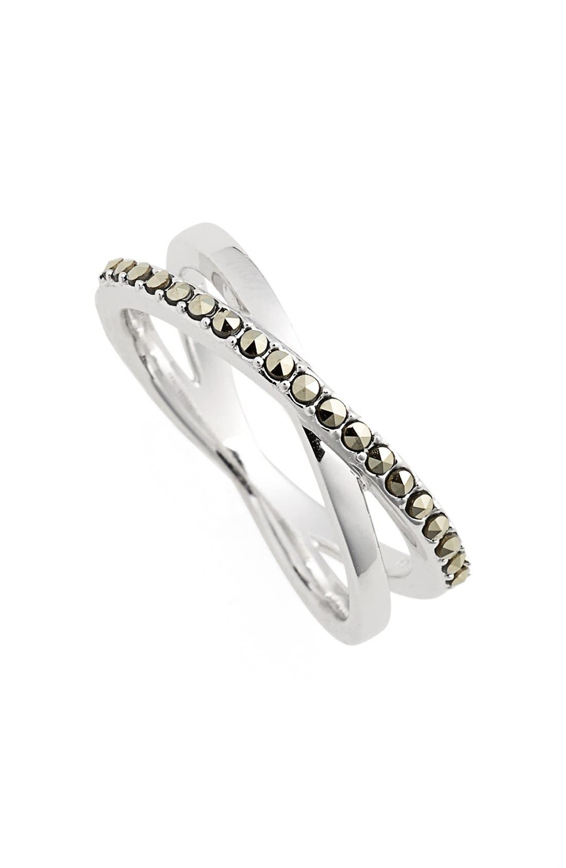 Alternate Image 1 Selected - Judith Jack Crisscross Marcasite Ring