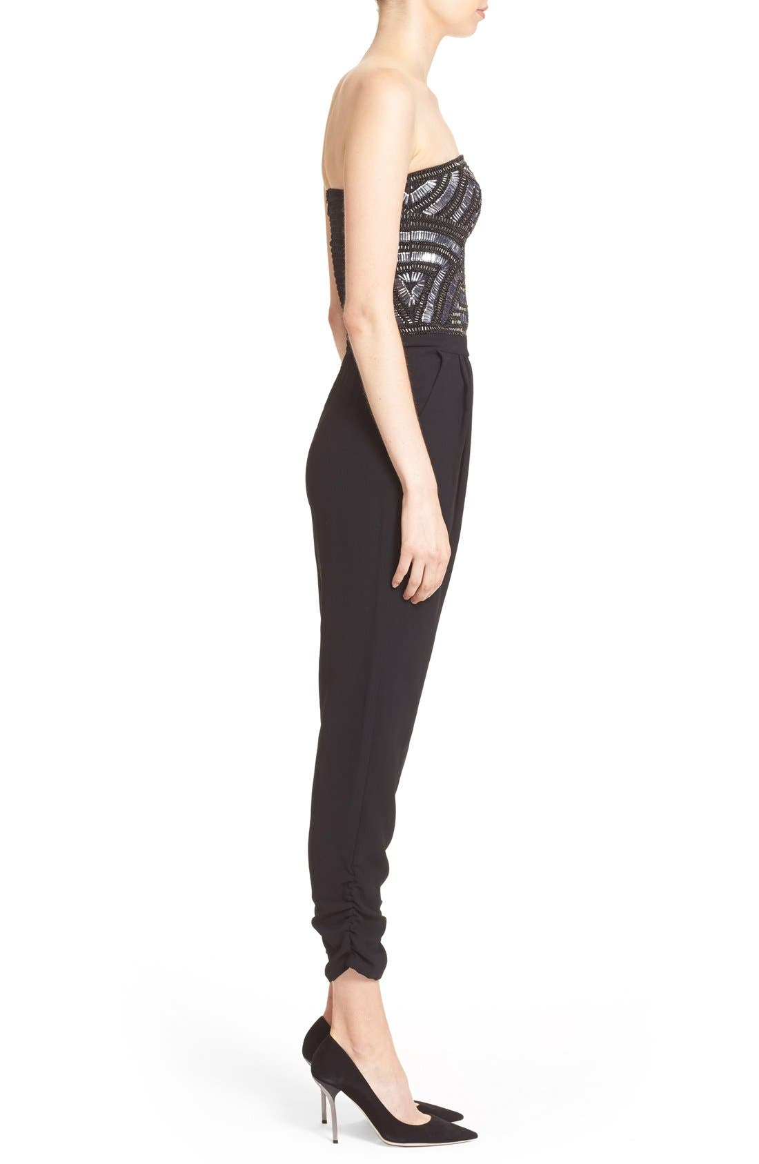 Alternate Image 3  - Parker 'Giovanna' Embellished Strapless Jumpsuit