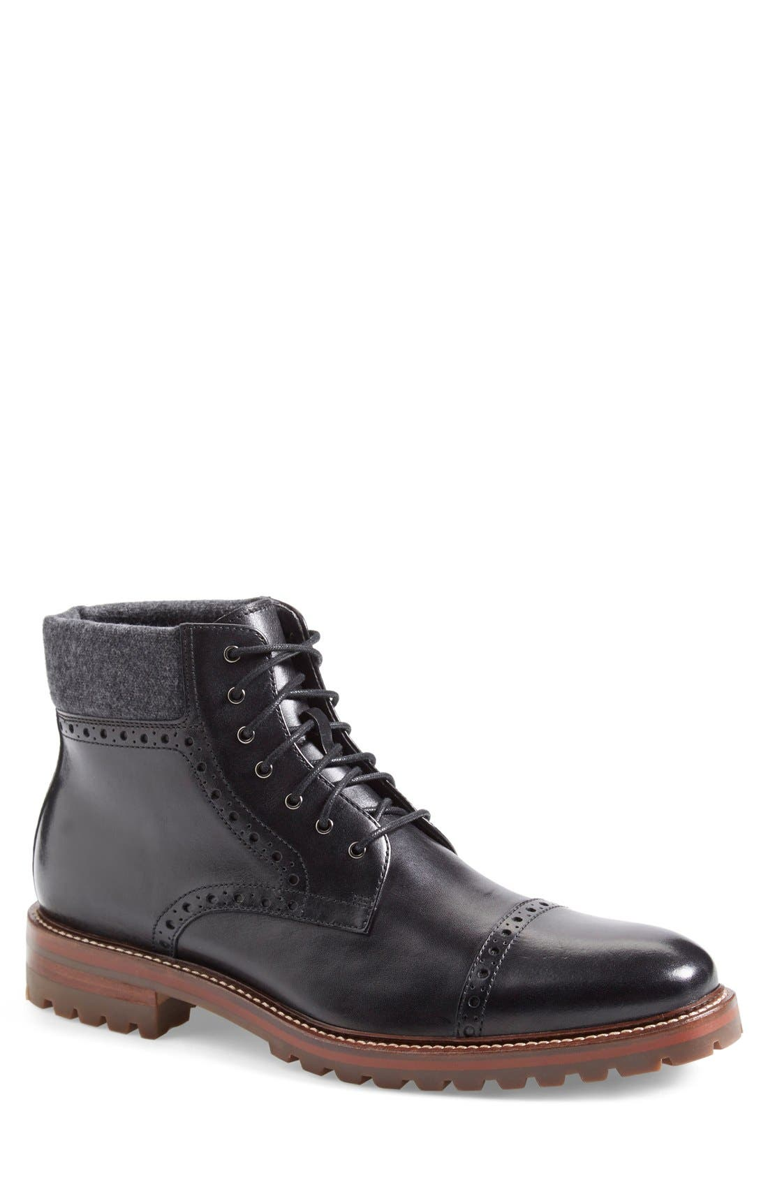 J&M 1850 'Karnes' Brogue Cap Toe Boot (Men)