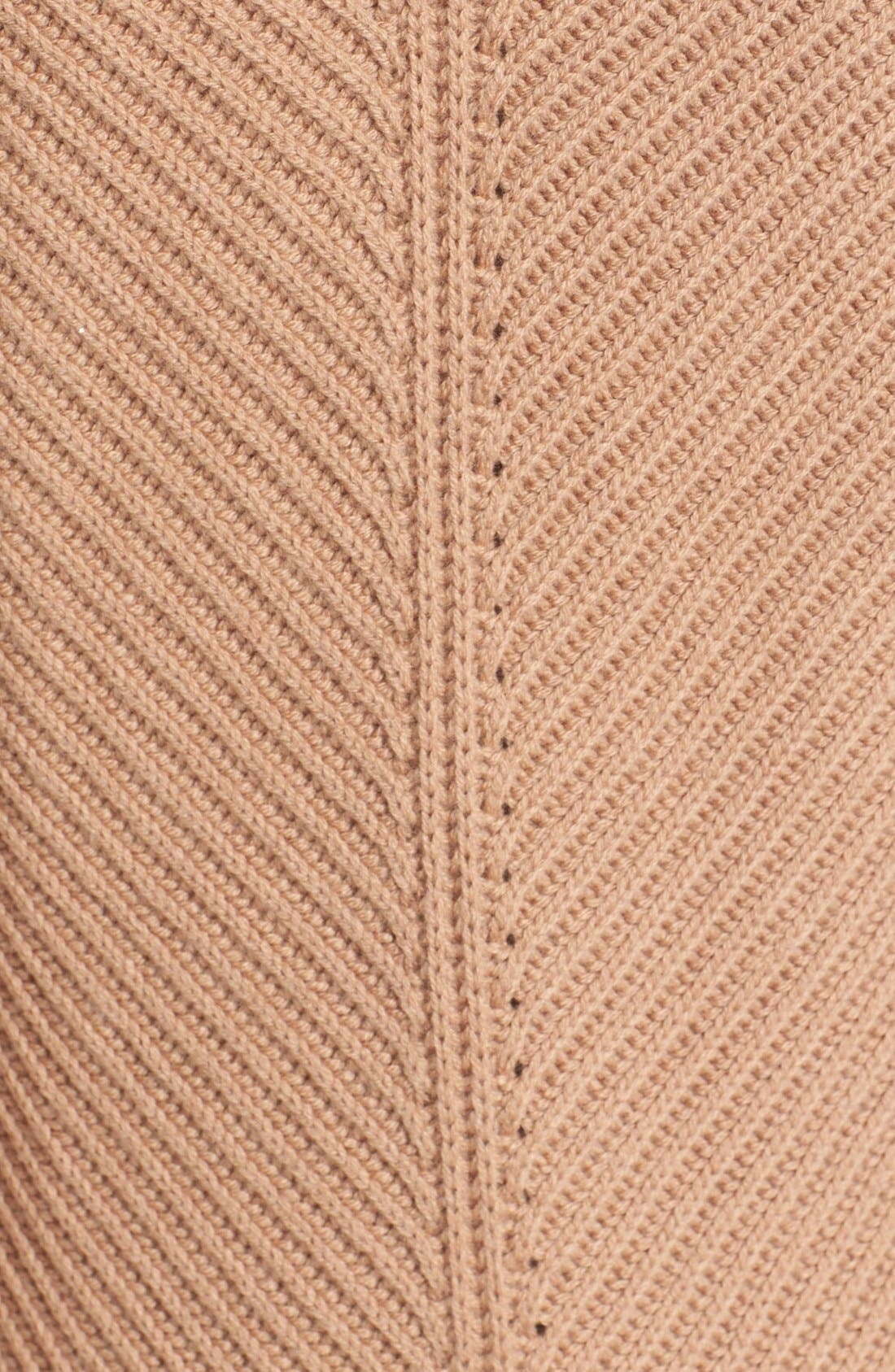 Sleeveless Ribbed Wool Turtleneck,                             Alternate thumbnail 5, color,                             Almond