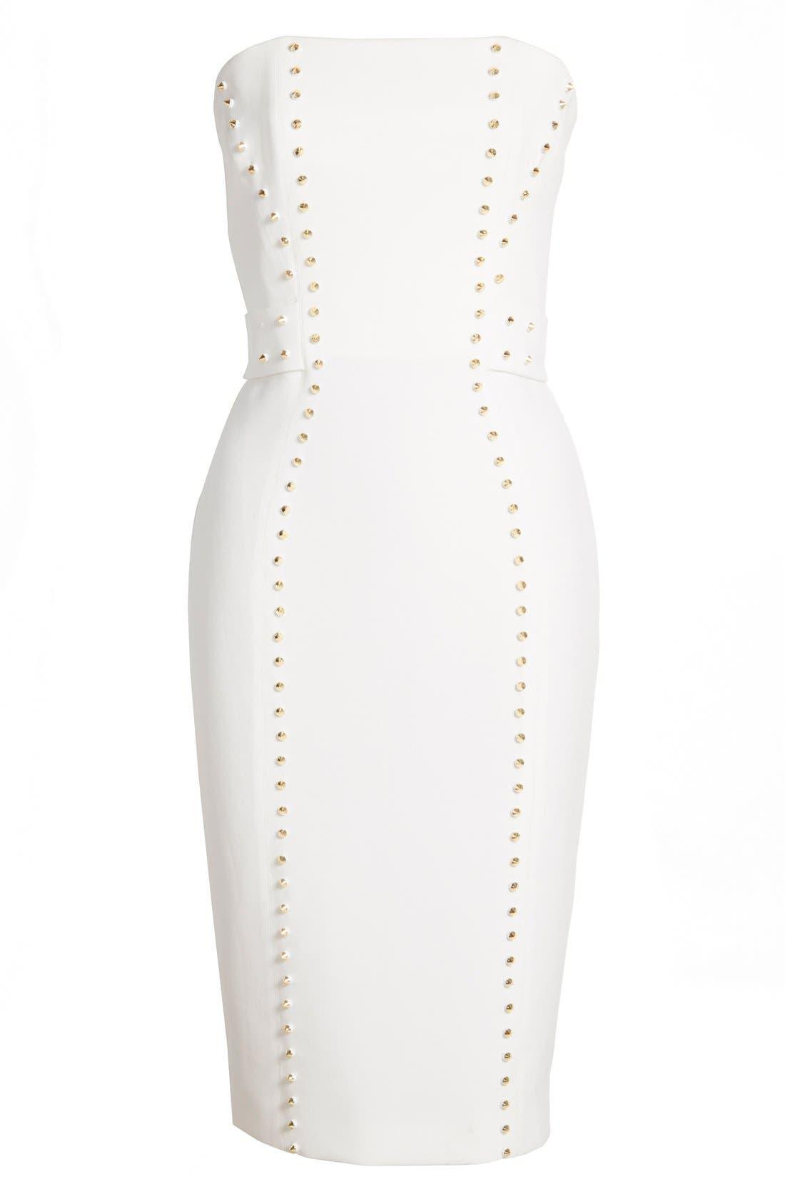 Alternate Image 4  - Versace Collection Studded Strapless Sheath Dress