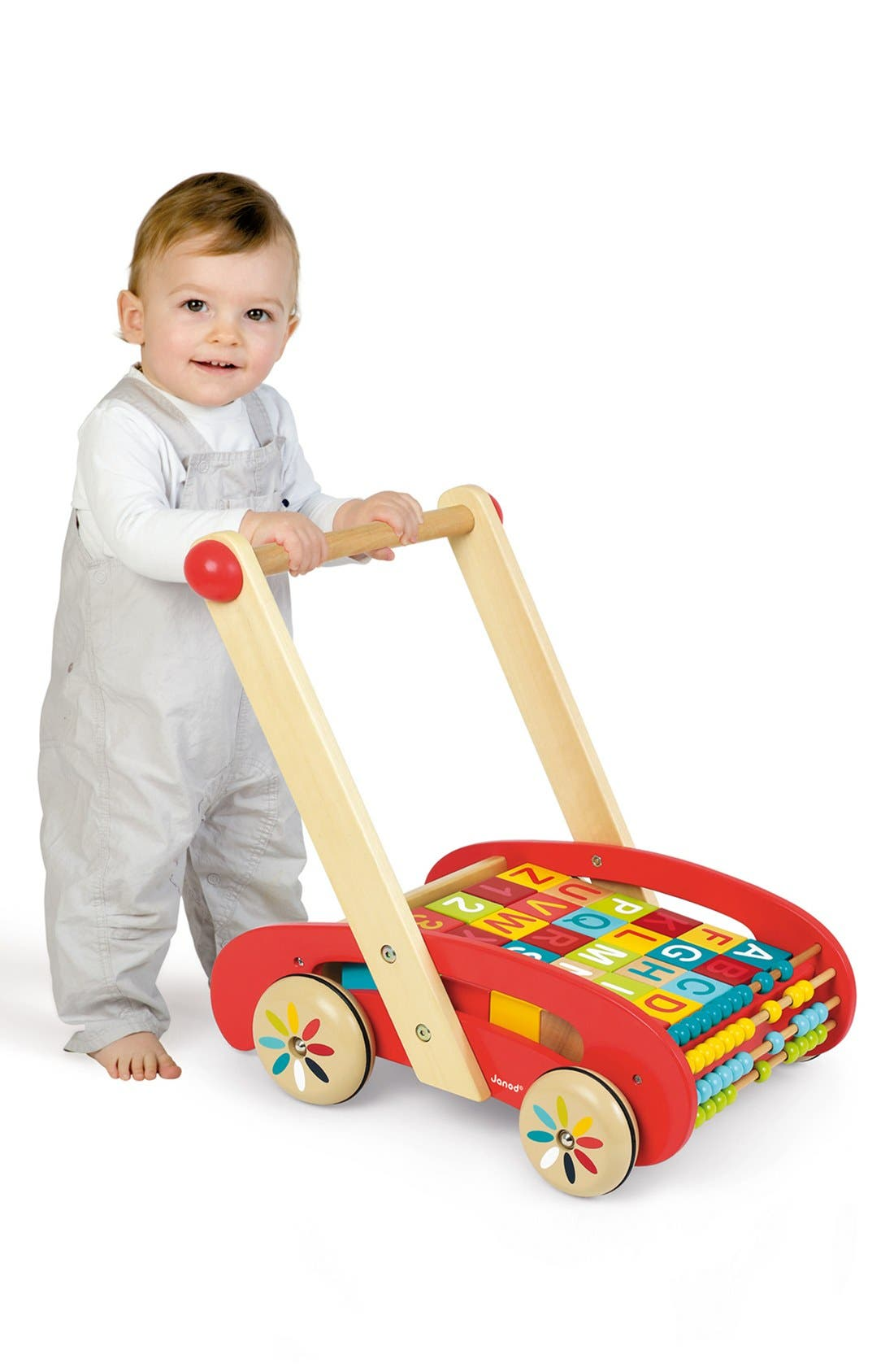 ABCWooden Block Buggy,                             Alternate thumbnail 2, color,                             Red