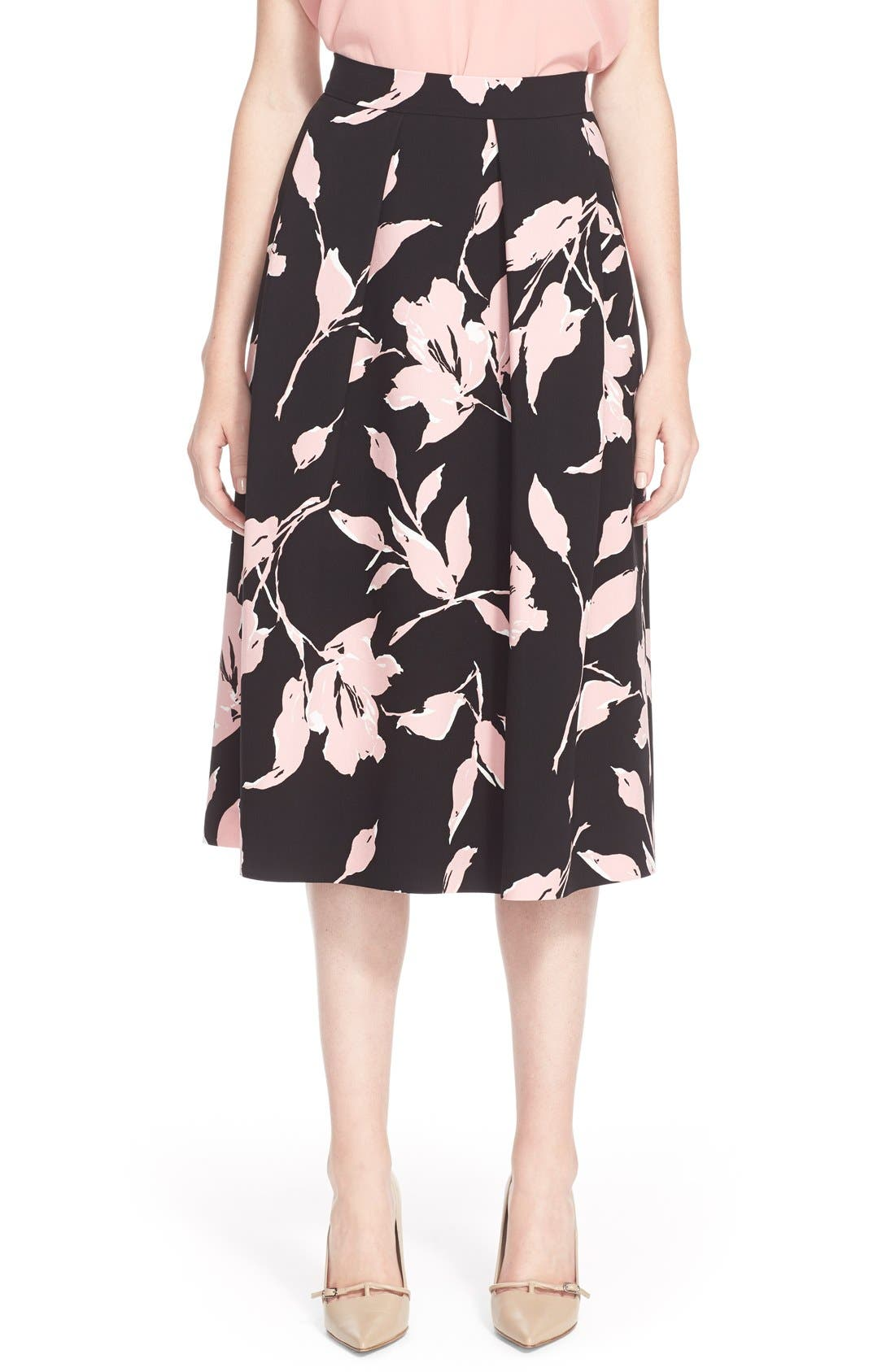 Main Image - ESCADA French Rose Print Skirt