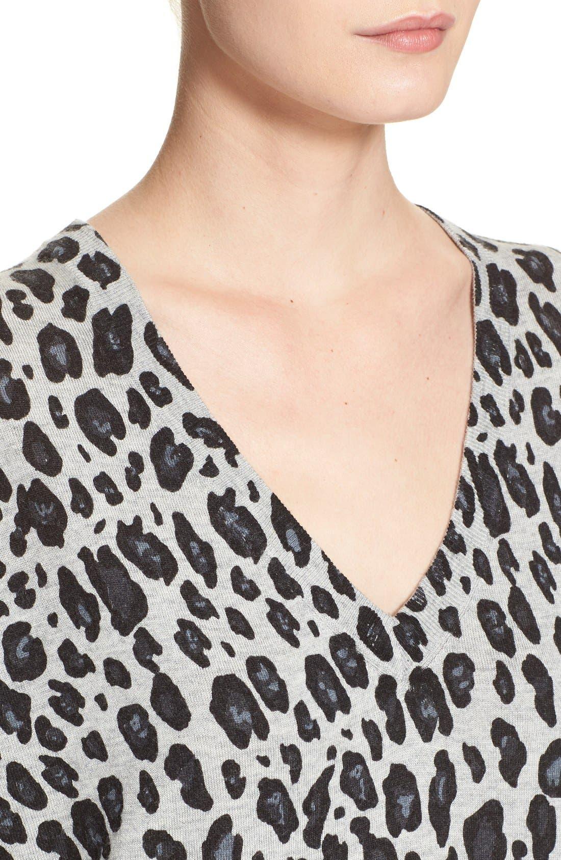 Alternate Image 4  - Joie'Chyanne' Leopard Print V-Neck Pullover
