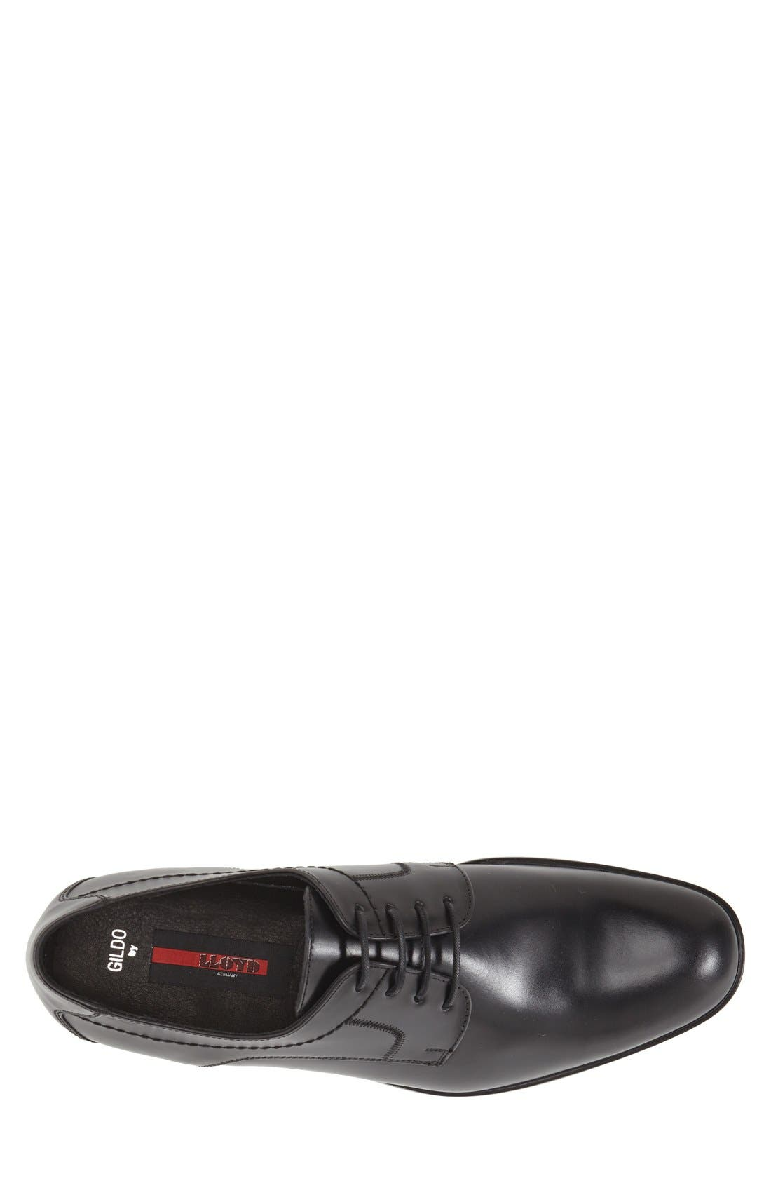 'Gildo' Plain Toe Derby,                             Alternate thumbnail 3, color,                             Black