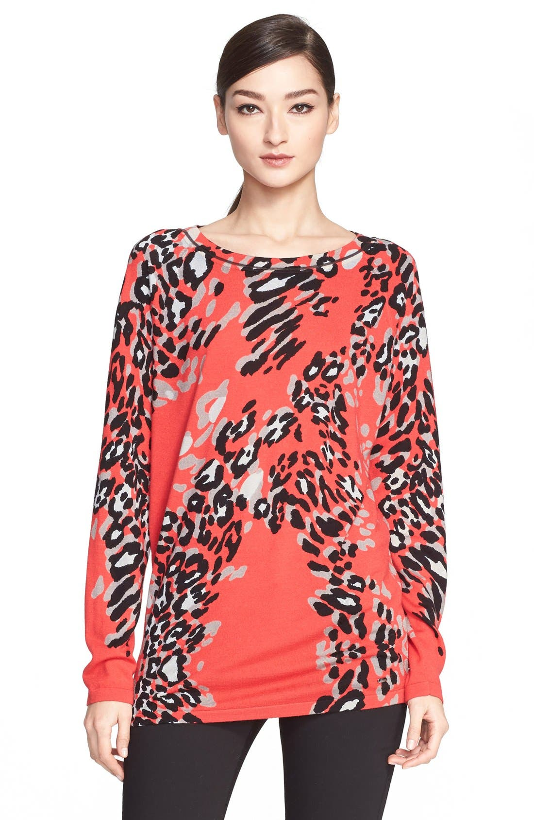 Main Image - ESCADA Leopard Print Wool Blend Tunic