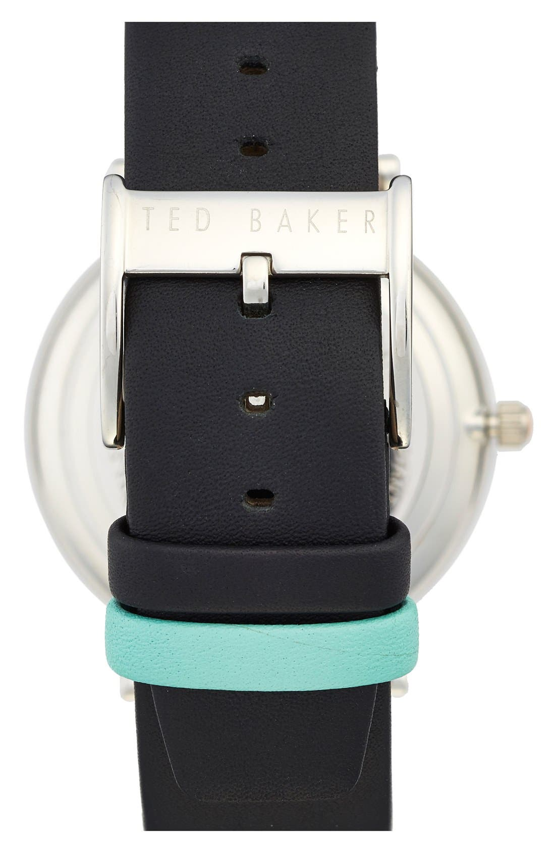 Alternate Image 2  - Ted Baker London Leather Strap Watch, 40mm