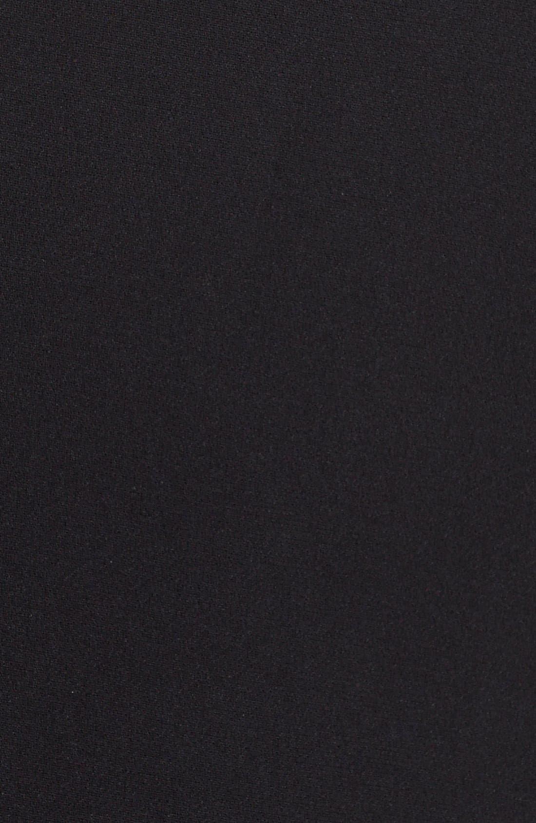 Peak Lapel Suit Jacket,                             Alternate thumbnail 4, color,                             Black