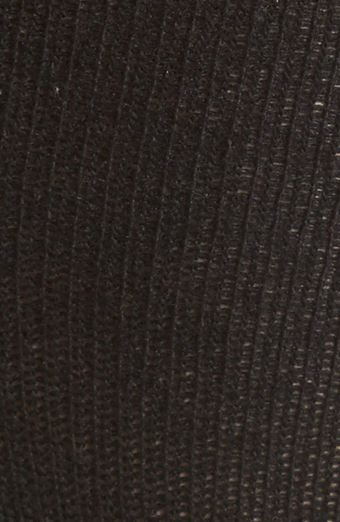 Merino Wool Blend Knee Socks,                             Alternate thumbnail 2, color,                             Black