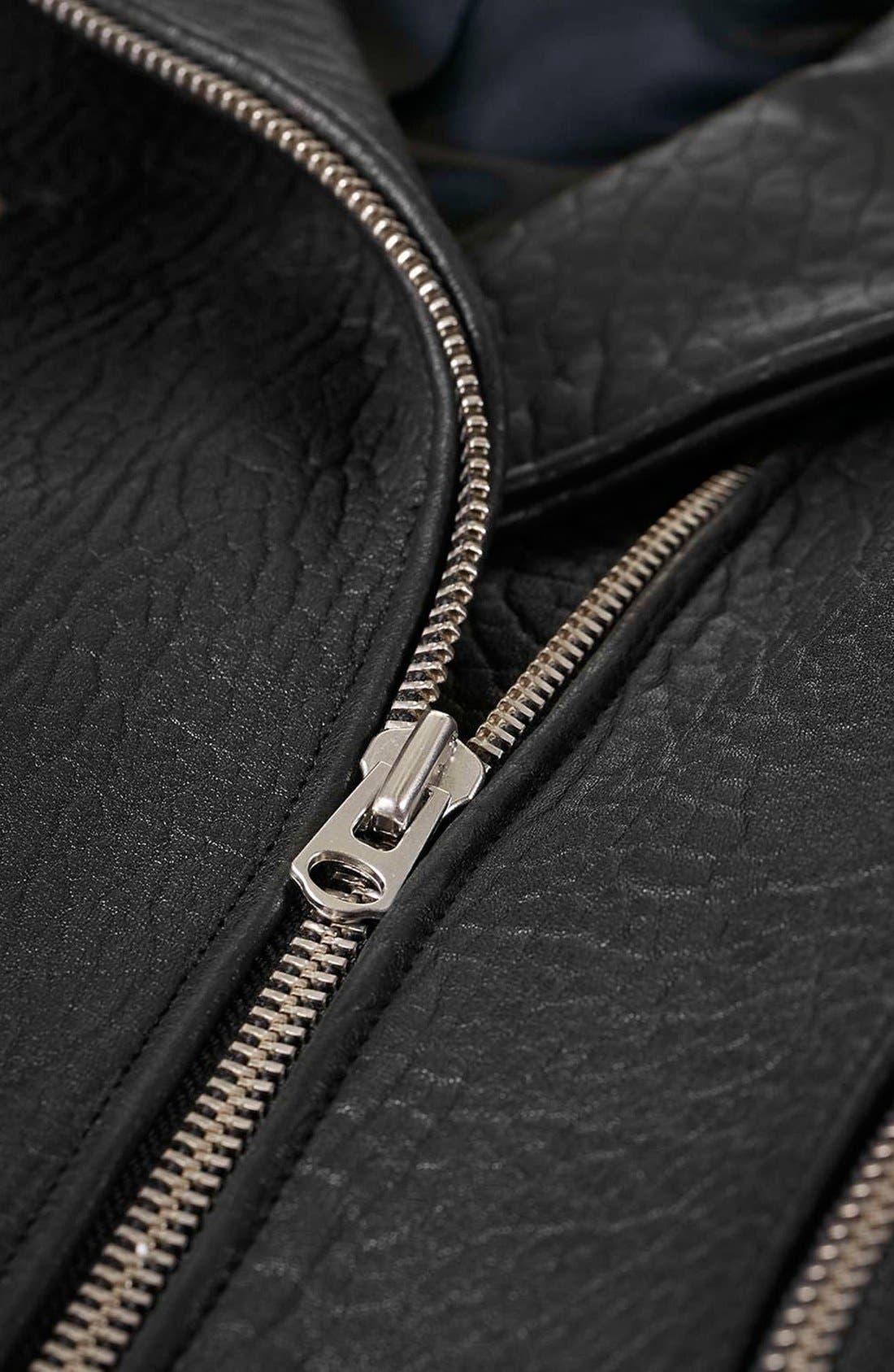 Alternate Image 9  - Topshop Boutique Leather Biker Jacket