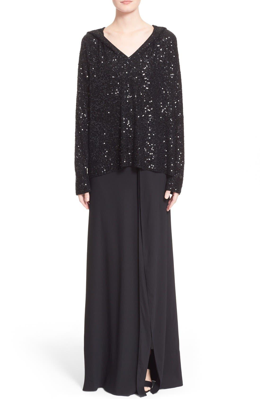 Alternate Image 7  - Donna Karan New York Crepe Flutter Maxi Skirt