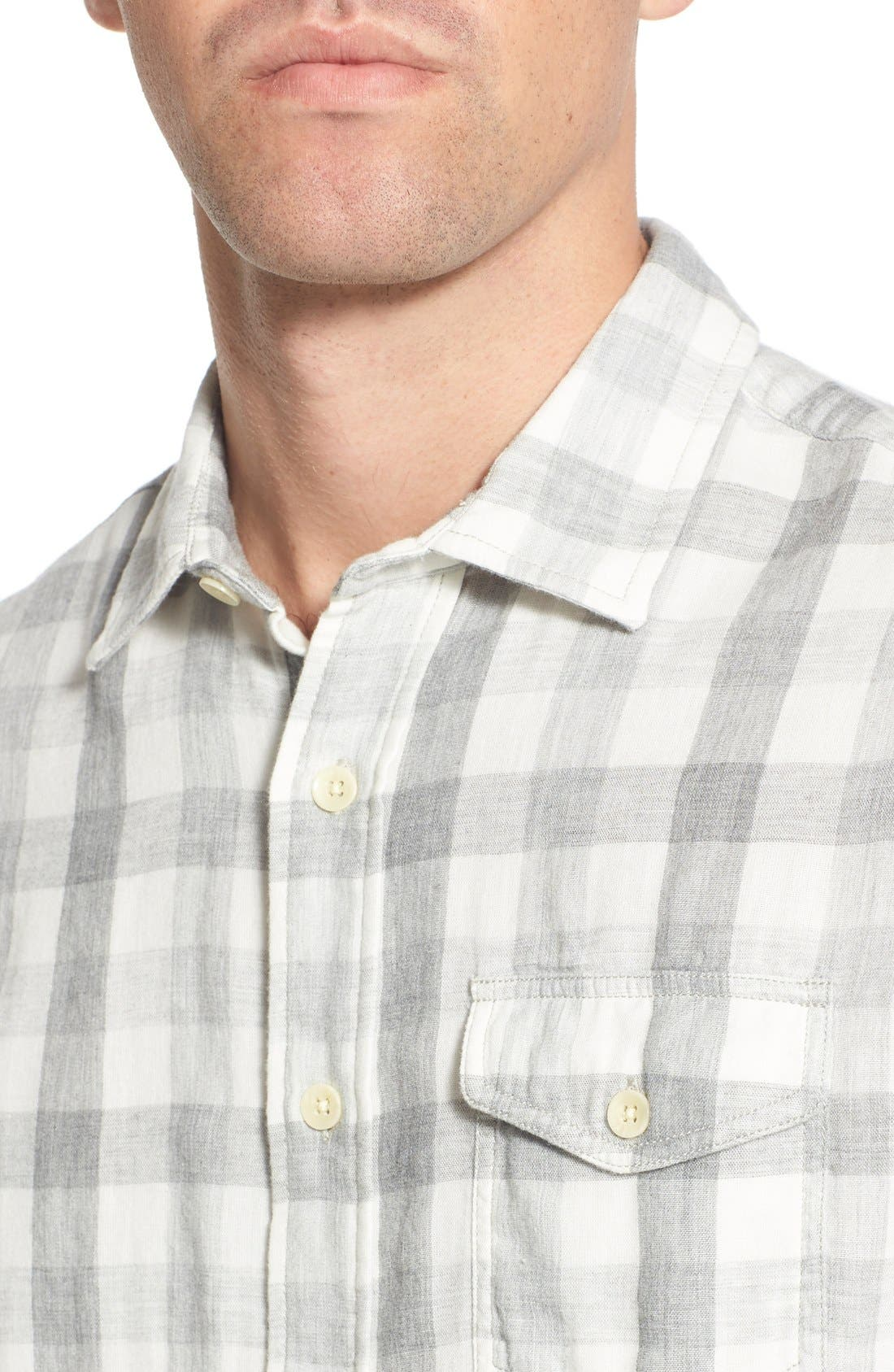 'Durham' Regular Fit Check Sport Shirt,                             Alternate thumbnail 2, color,                             Heather Grey Gingham