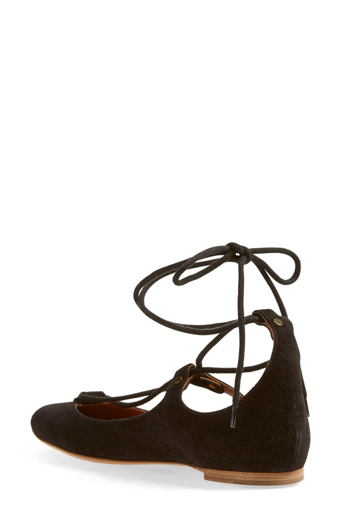 Alternate Image 2  - Chloé 'Foster' Lace-Up Ballet Flat (Women)