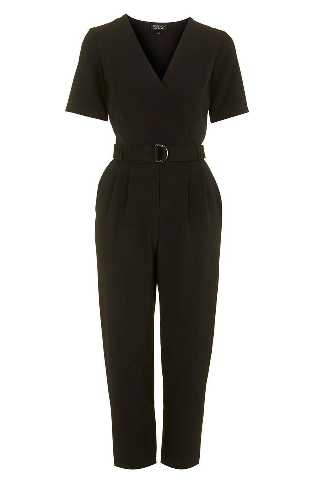 Alternate Image 4  - Topshop Belted Jumpsuit