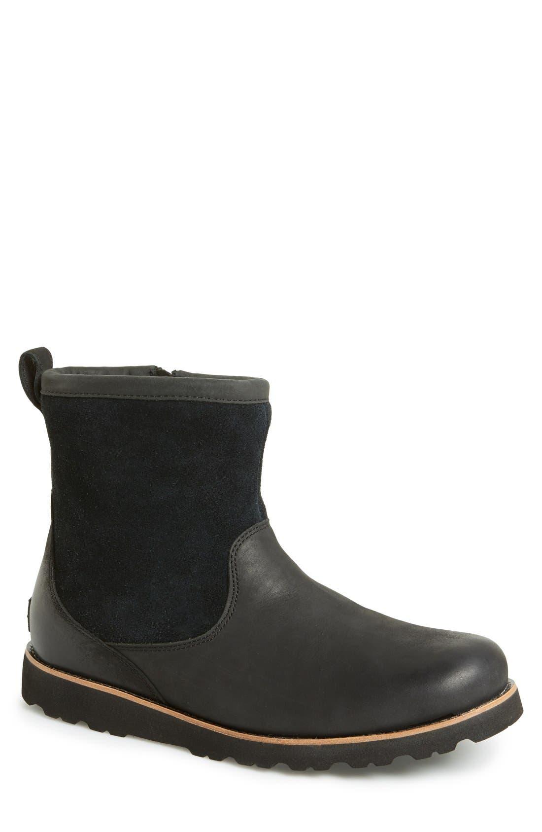 Hendren TL Waterproof Zip Boot,                             Main thumbnail 1, color,                             Black