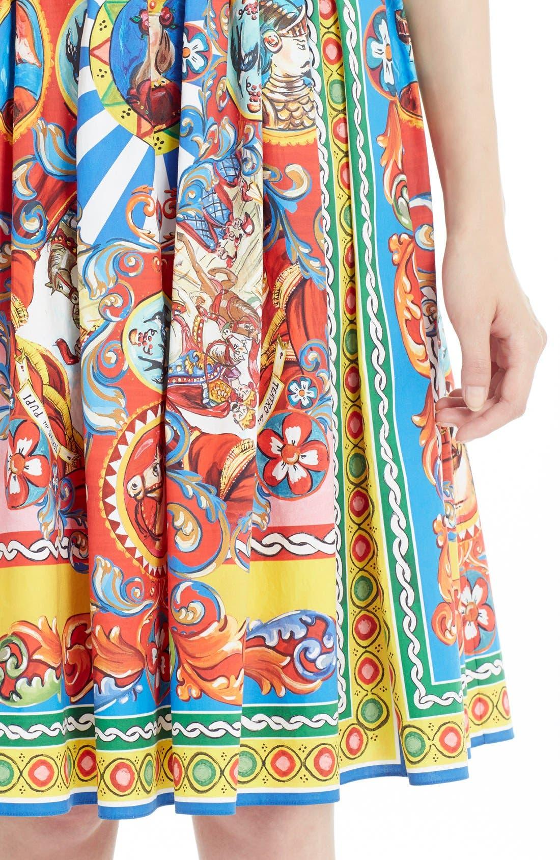Alternate Image 5  - Dolce&Gabbana Carretto Print Cotton Poplin Dress