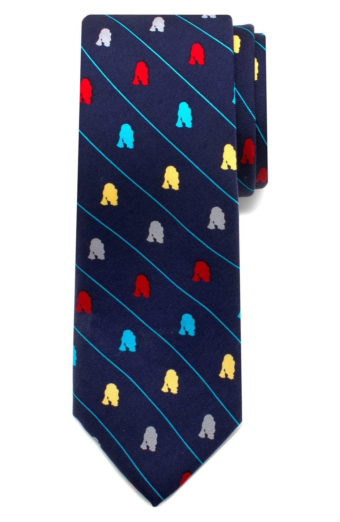 'Star Wars<sup>™</sup> - R2-D2 Stripe' Silk Tie,                         Main,                         color, Blue
